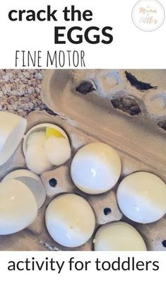 An easy fine motor activity for toddlers to pretend play they are on the farm gathering eggs from the chickens and making eggs for breakfast!