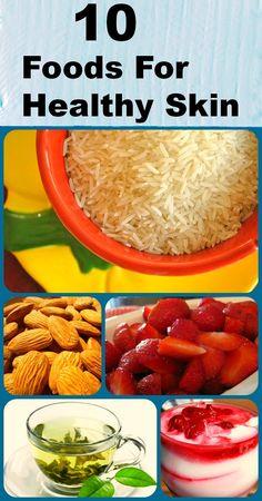 Top 10 Foods For Healthy Skin http://www.myclearorganics.com/home/24-skin-care-nighttime-moisturizer.html