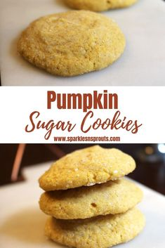 Pumpkin Sugar Cookies are the perfect way to celebrate Fall.  Trust me these are a must make this Pumpkin Spice Season (I mean Fall) . #fall #pumpkin #pumpkinspice #cookie #sugarcookie #sparklesnsprouts