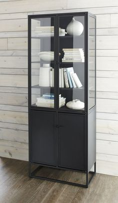 Beautiful Casement Black Tall Cabinet   Crate And Barrel