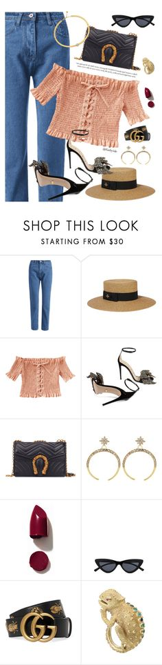 """""""⚡️"""" by gabyidc ❤ liked on Polyvore featuring Gucci, NARS Cosmetics, Max & Chloe and Chloé"""
