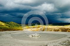 Mud Volcano Crater And Dramatic Background Stock Photo - Image of earth, cloudy: 60302458 Dramatic Background, Volcano, Geology, Romania, Mud, Attraction, Travel Destinations, Europe, Earth