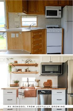 RV remodel from will leave you speechless! This RV remodel from JoyfullyGrowing will leave you speechless! See the before and after on This RV remodel from JoyfullyGrowing will leave you speechless! See the before and after on Camper Renovation, Home Renovation, Home Remodeling, Tiny House Living, Rv Living, Architecture Renovation, Travel Trailer Remodel, Travel Trailers, Camper Trailers