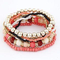 Bohemian Style Bracelet MutiLayer Beads Bracelets & Bangles                                                                                                                                                                                 Plus