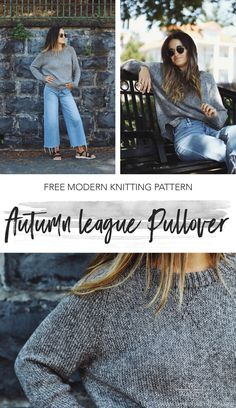 Autumn League Pullover pattern by Two of Wands Top down knit, LB Collection Cotton, up to chest size (XXL) Free Knitting Patterns For Women, Knit Patterns, Knitting Tutorials, Knitting Projects, Stitch Patterns, Jumper Knitting Pattern, Loom Knitting, How To Purl Knit, Raglan
