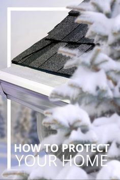 These tips will keep your home safe in the coolest winter months. Gutter Protection, Green Roof System, Hanging Christmas Lights, Living Roofs, Buying Your First Home, White Picket Fence, Roofing Systems, Home Safes, Pumpkin Crafts