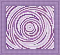 Purple abstract cross stitch pattern on Etsy.com - LudivinePointDeCroix, $4.65