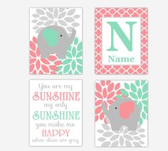 Personalized Baby Nursery Decor & Gifts – Canvas & Wall Art Prints – Baby Blankets – Kids Bed and Bath Wall Art Canvas Wall Art, Wall Art Prints, Personalized Wall Art, Bathroom Art, Baby Nursery Decor, Kid Beds, My Sunshine, Cards, Gifts