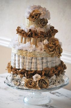 Paper Wedding Cake Bridal Shower Decoration by thoughtfulimagesink, $55.00