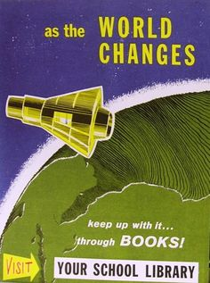 1960s Library Poster