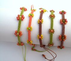 cute flower macrame bracelets on Etsy, $7.00