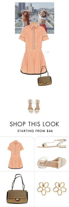 """""""Outfit of the Day"""" by wizmurphy ❤ liked on Polyvore featuring INDIE HAIR, N°21, Salvatore Ferragamo, Chanel, Marc by Marc Jacobs, ootd and gingham"""