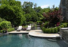 Beautiful backyard designed by Hess Landscape Architects.