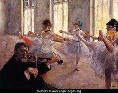 Rehearsal - Edgar Degas - www.edgar-degas.org
