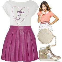 Violetta 3: This is love by stylewiktoria on Polyvore featuring mode, Alice + Olivia, MICHAEL Michael Kors, Forever 21, women's clothing, women's fashion, women, female, woman and misses