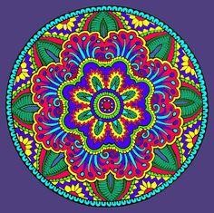 Mystical Mandala Coloring Book, Dover Publications