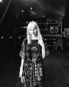 """""""My skin is thick like mountains and soft like the softest universe ☀️ Captured moment by Melanie Marsman""""  AURORA backstage at Best Kept Secret Festival 2017.  Visit https://iconiclight.wordpress.com/category/AURORA"""