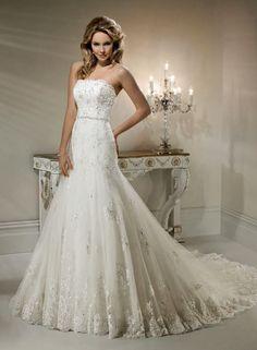 Strapless Lace Wedding Dress