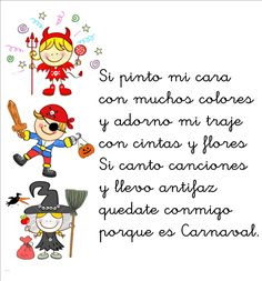 vocabulario de carnaval en español - Buscar con Google Spanish Songs, Spanish Lessons, Learning Spanish, Spanish Class, Carnival Activities, Craft Activities, Preschool Ideas, Simple Poems, Learn A New Language