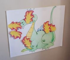 games - pin the flames on the dragon