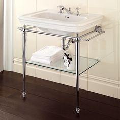 Polished chrome legs for console bathroom sink