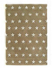 Teppich beige, Sterne, 170x240