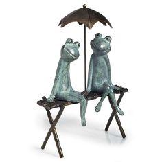 Sweetheart Frogs Sculpture