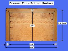 Free Dresser Plans - How to Build A Chest of Drawers Woodworking Software, Woodworking Furniture Plans, Woodworking Projects, Woodworking Classes, Fine Woodworking, Diy Chest Of Drawers, Dresser Drawers, Dressers, Diy Dresser Plans