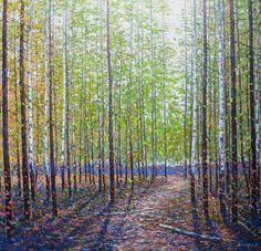 Jack Zhou, Green Dream, 46x48, Oil on Canvas