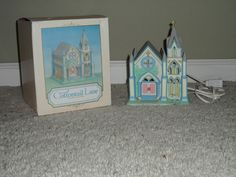 Cottontail Lane Lighted Porcelain Cathedral Midwest of Cannon Falls Excellent