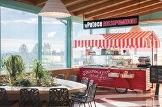 Campo dei Fiori Mall food court by HIT arcHITects, Gavirate – Italy Coffee Shop Interior Design, Capsule Hotel, Cheap Accommodation, Food Court, Retail Design, Minimalist Design, Mall, Architecture, Outdoor Decor
