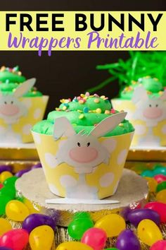 Easily serve up your Easter candies and treats for your Easter party with this FREE bunny wrappers printable! These bunny cupcake wrappers are great for dressing up your cupcakes, as well as offer Easter candies to kids. Click here to grab your free Easter printable! Free Bunny Wrappers Printable  #FreeEasterPrintable #FreeBunnyWrapperPrintable