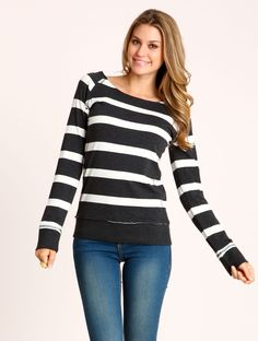 Boatneck Striped Tee