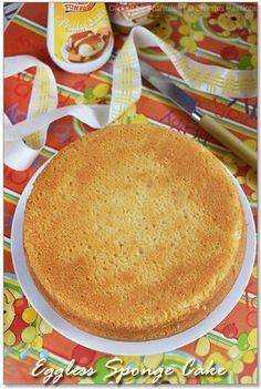 Eggless Vanilla Sponge Cake Step by Step Eggless Basic Cake Recipe - Sharmis Passions Eggless Desserts, Eggless Recipes, Eggless Baking, Baking Recipes, Dessert Recipes, Recipe Of Eggless Cake, Sweets Recipe, Cheesecake Recipes, Vegan Desserts