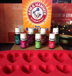 Shower Disks or Bath Bombs: using 1/2 cup water, 1 3/4 cup baking soda and 10-20 drops of your desired Young Living essential oils! I'm currently making a batch of Christmas Spirit to give as gifts. Spoon into silicone mold and dry completely! Visit facebook.com/mrsmosersoils for more info & recipes!