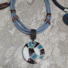 Ceramic pendant #necklace #ceramicjewelry