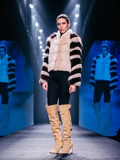 Byte by Giuliana Teso Mink Fur Jacket with Fox Sleeves