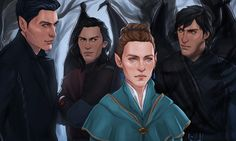 Rhysand, Cassian, Feyre and Azriel, reaching the mortal realm. My god, this fanart is ridiculous! #ACOTAR #ACOMAF