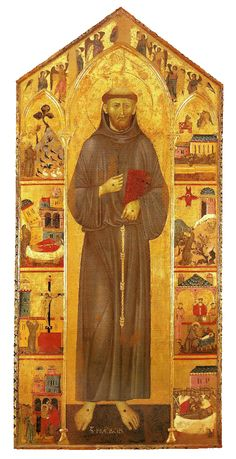 Guido di Graziano (Guido da Siena),  San Francesco e storie della sua vita (dopo il 1270)  Siena, Pinacoteca nazionale