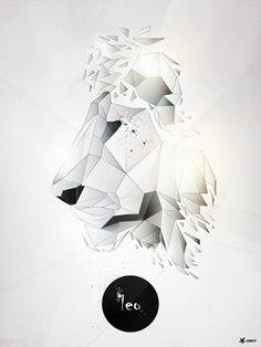 Abstract Lion Poster #poster #leukocyt @leukocyt @Paweł Durczok