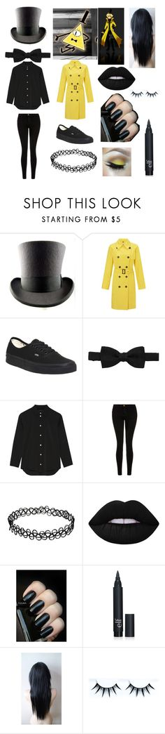 """""""Bill Cipher"""" by emo-oreo-cookie ❤ liked on Polyvore featuring Four Seasons, Vans, Lanvin, The Row, Current/Elliott, Lime Crime, Etcetera, women's clothing, women and female"""