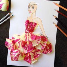 15 Mesmerizing fashion illustrations that we wish were real dresses: Edgar Artis