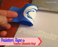 Silhouette School: Silhouette Transfer Tape Substitute: Painter's Tape!