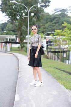 """""""I've been into the animal prints trend recently—which is actually quite hard to pull off. Management Styles, Topshop Skirts, Pull Off, Prada Shoes, Roger Vivier, Animal Prints, Fashion Wear, Yves Saint Laurent, High Waisted Skirt"""