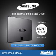 MacMall #SecretSale: Snag incredible savings on a new Samsung 1TB internal SSD.