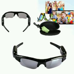 Digital audio video camera DVR spy sunglasses security private investigators
