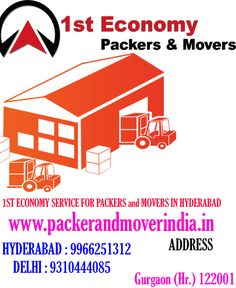 1st Economy Service for Packers and Movers in Hyderabad