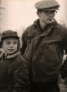 James Dean with his young cousin Markie (Marcus Jr) in Fairmount, Indiana. 1955