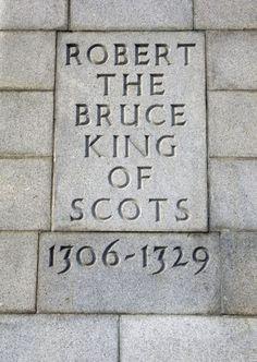 I never realized how very young he was! The monument to Robert the Bruce at Bannockburn. Scottish Clans, Scottish Highlands, Scottish Gaelic, Edinburgh Scotland, Scotland Travel, Scotland Castles, Scotland History, Non Plus Ultra, William Wallace