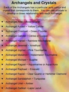 Archangles and crystals
